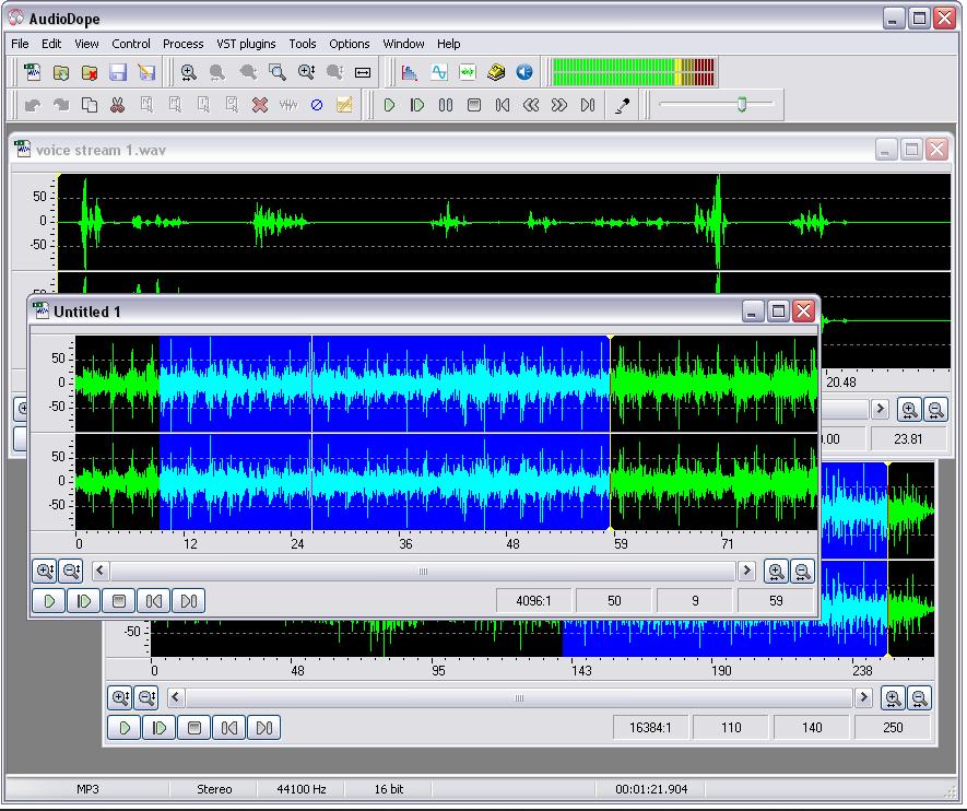 Audiodope(免费音频编辑器)截图