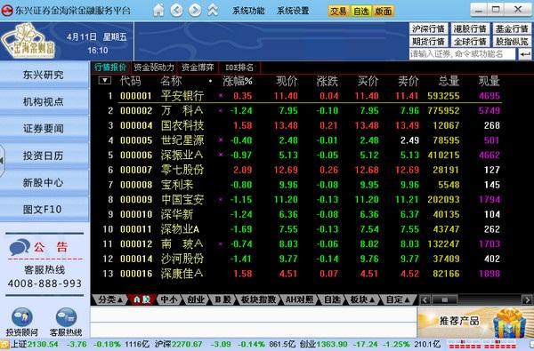 东兴证券金海棠金融服务平台截图