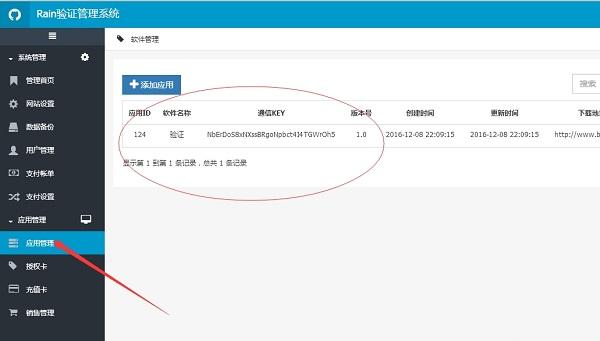 rain网络验证系统截图