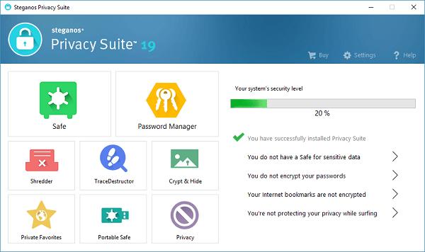 Steganos Privacy Suite截图