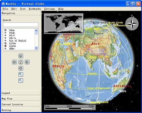 电子地球仪Marble截图