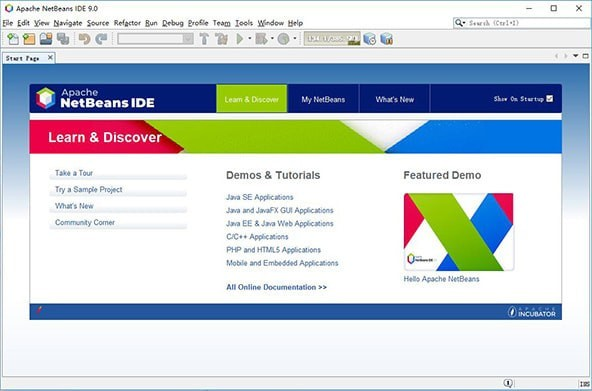 NetBeans IDE截图