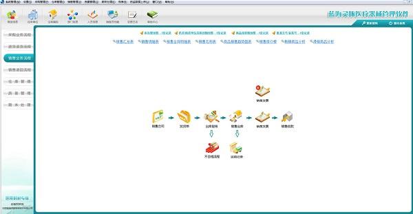蓝海灵豚医疗器械管理软件截图