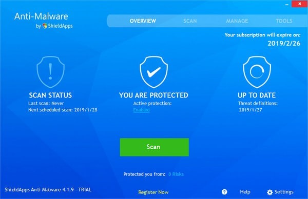ShieldApps Anti-Malware截图