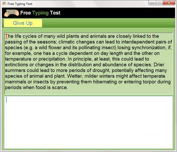 Free Typing Test截图