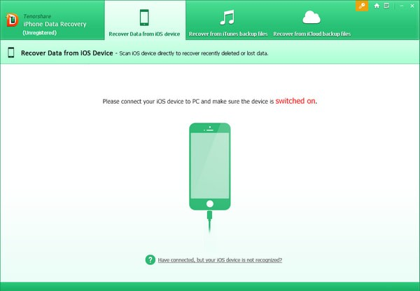Tenorshare iPhone Data Recovery截图