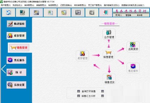 德易力明仪器设备销售管理系统截图