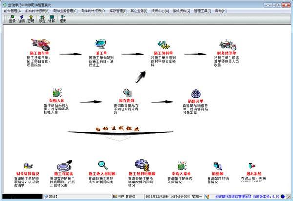 金骏摩托车维修配件管理系统截图