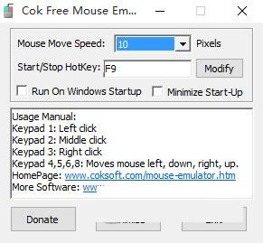 Cok Free Mouse Emulator截图