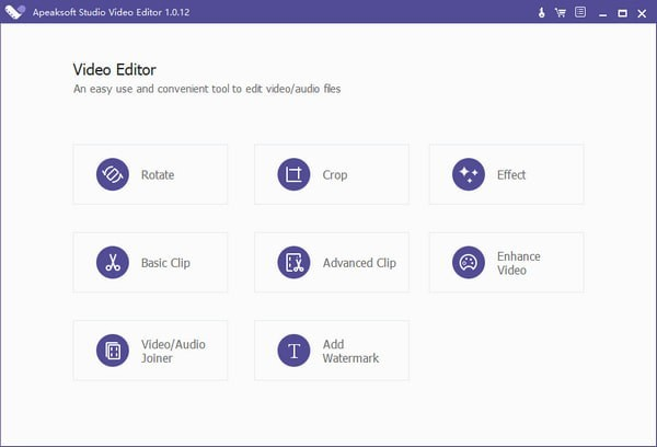 Apeaksoft Studio Video Editor截图