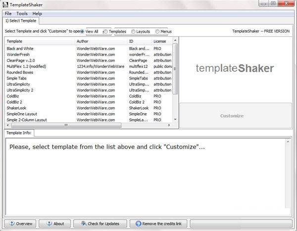 Template Shaker截图
