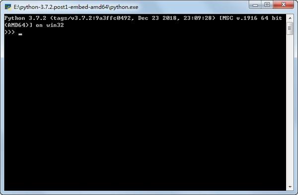 Python for windows截图
