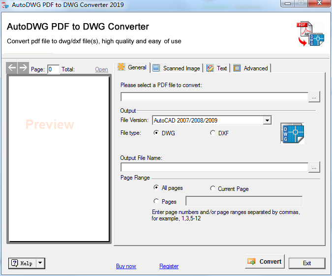AutoDWG PDF to DWG Converter截图