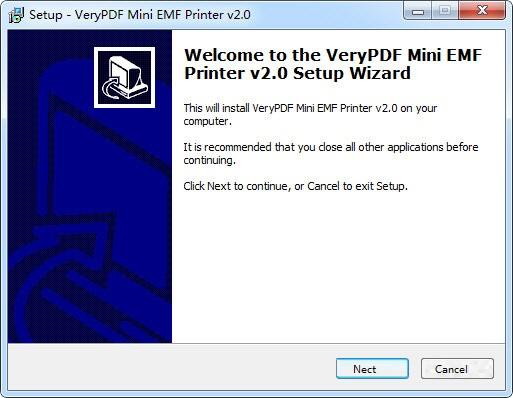 VeryPDF Mini EMF Printer截图