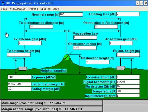 电波空间传输计算器截图