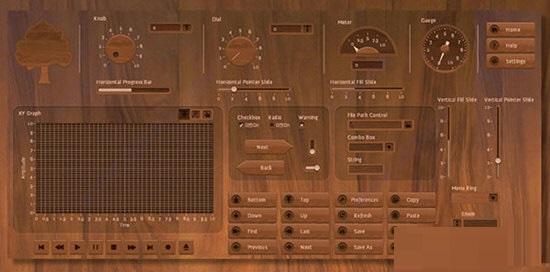 Wooden UI Controls Kit截图