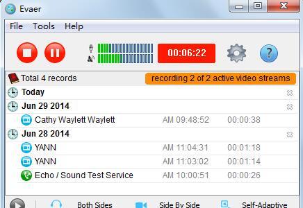 Skype Evaer Video Recorder截图