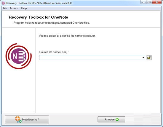 Recovery Toolbox for OneNote截图