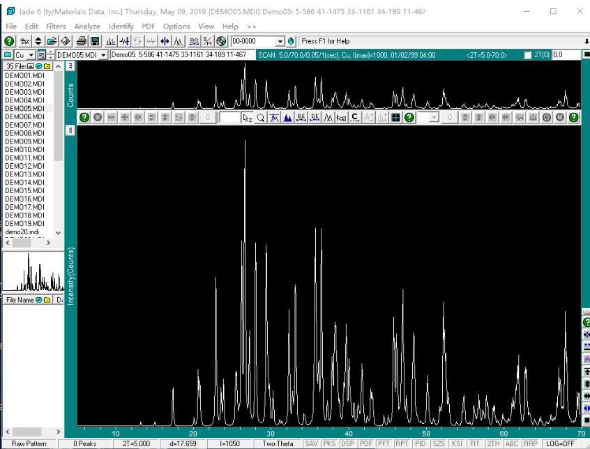 XRD分析软件截图