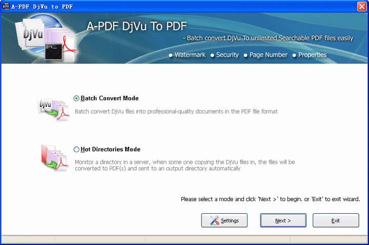 A-PDF DjVu to PDF截图