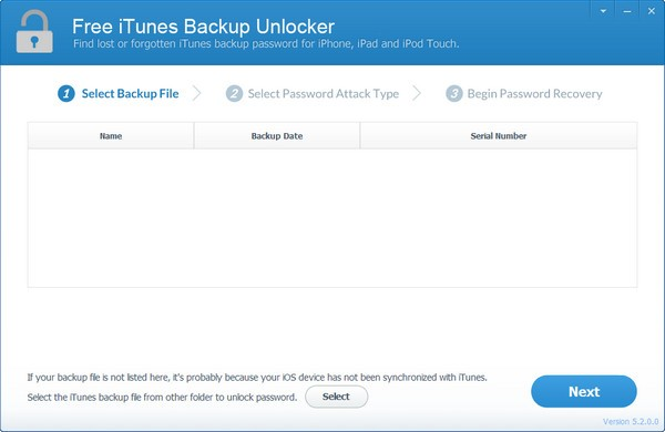 Free iTunes Backup Unlocker 免费数据恢复软件