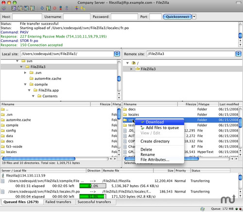 FileZilla Mac中文版
