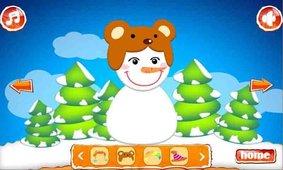 可爱雪人休闲小游戏截图