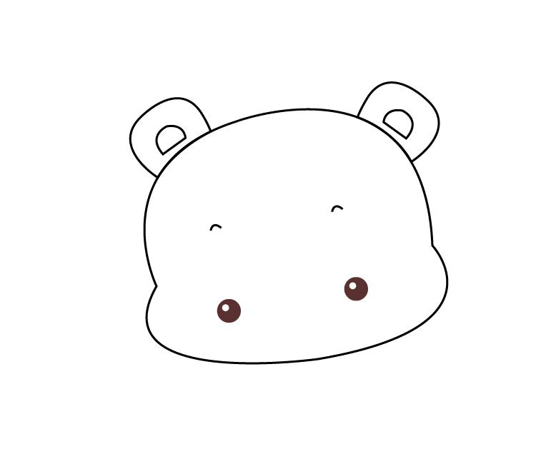 利用ai画简单可爱的北极熊的具体步骤