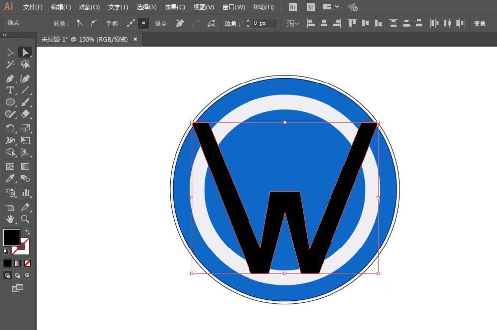 利用ai设计大众汽车的logo的方法分享-下载之家