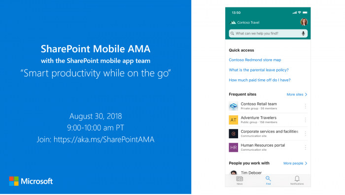 """微软更新SharePoint手机版:添加全新""""查找""""页面"""