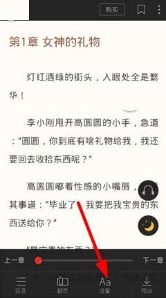 搜狗阅读APP中设置字体的详细步骤