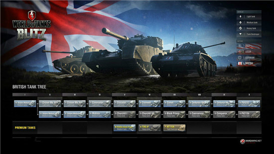 坦克世界闪击战战车科技树详解截图