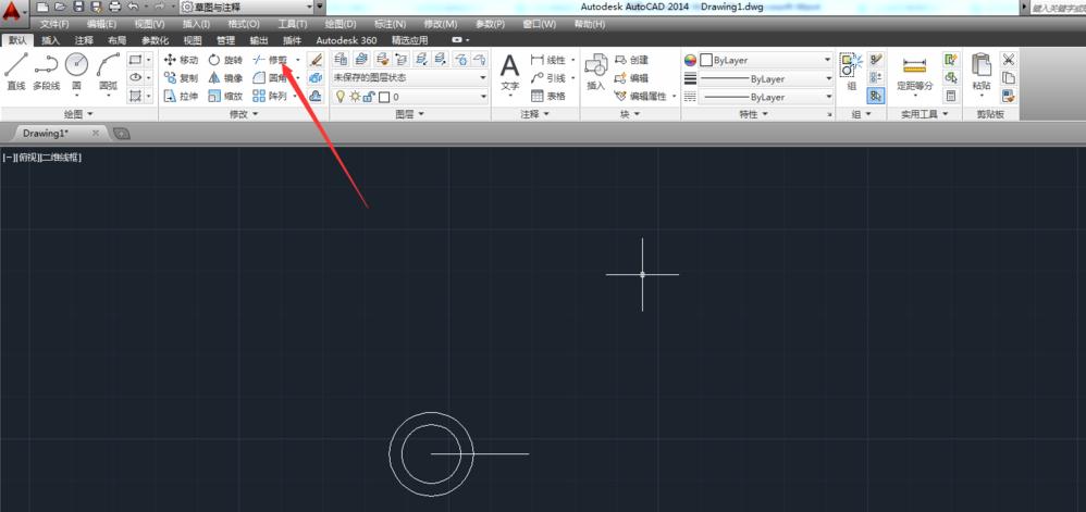 在AutoCAD中修剪多余线条的具体讲解cad分图两半图片