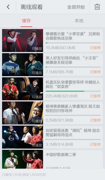 搜狐视频手机版中查看缓存视频的详细方法截图