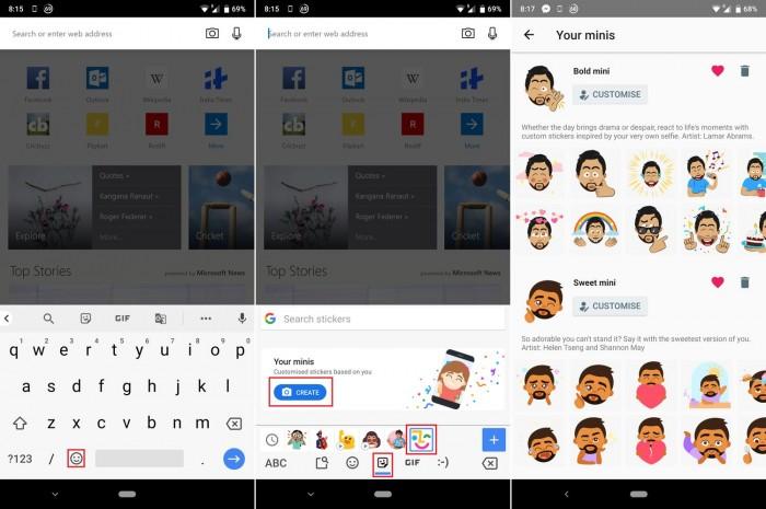 谷歌Gboard for Android 迎更新:新增自拍貼紙功能