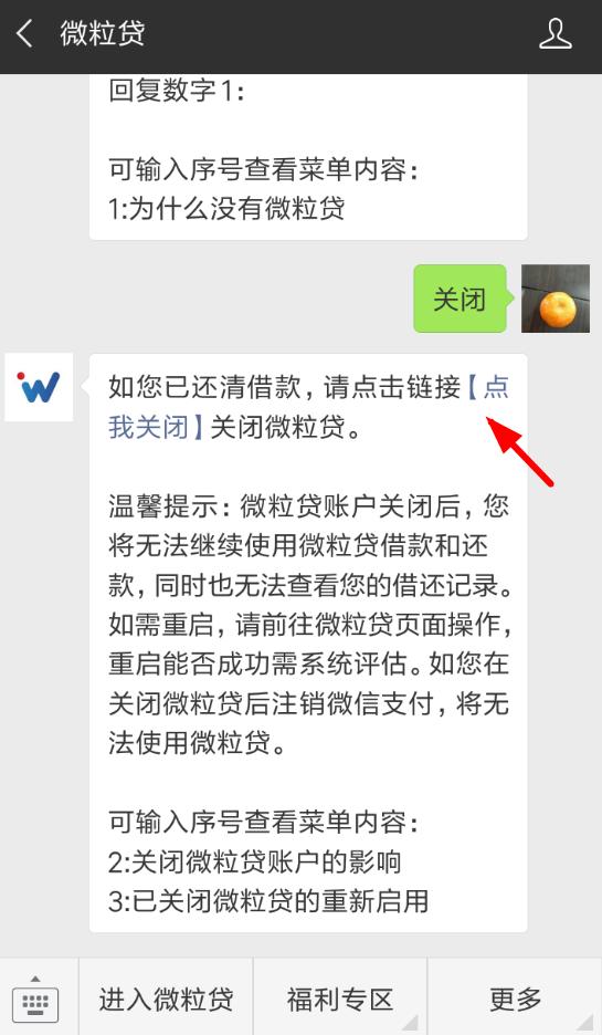 微信APP将微粒贷关掉的操作流程