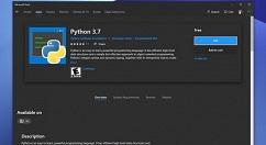 Python 3.7亮相微软商店,尚在评估阶段