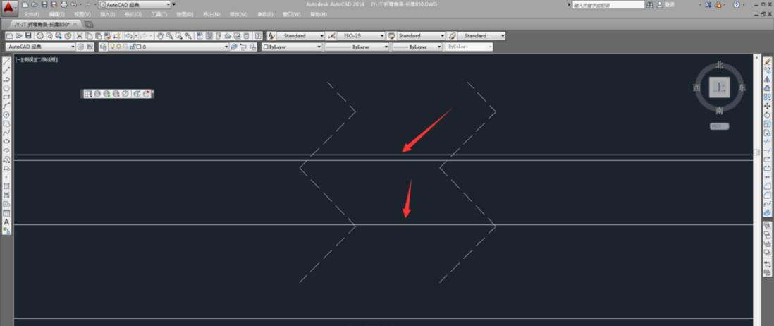 CAD操作相交流程的删掉轴线cad2007画怎么线条符号图片