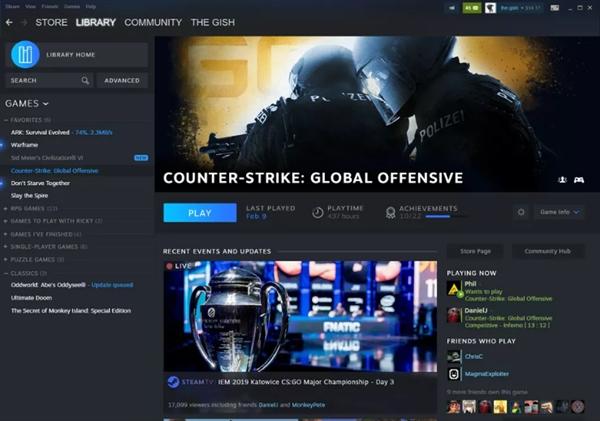 Steam全新客户端界面公开:耳目一新