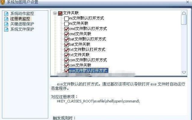 瑞星杀毒软件设置注册表监控的基础操作截图