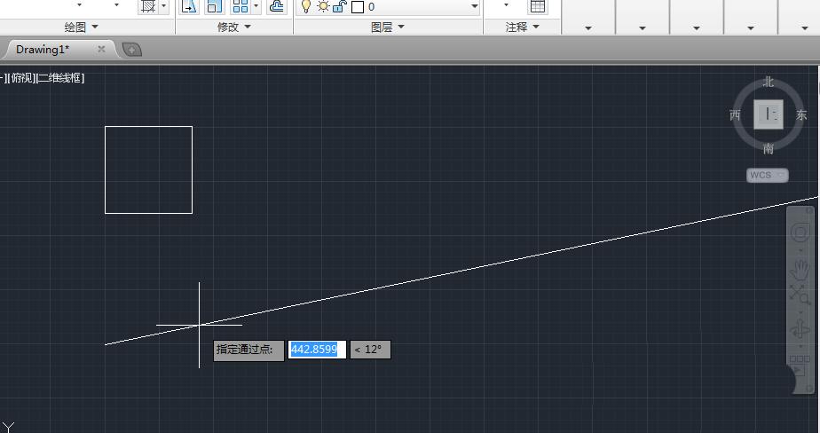 cad2014制作画射线和操作线的图文构造cad慢很对象选择图片