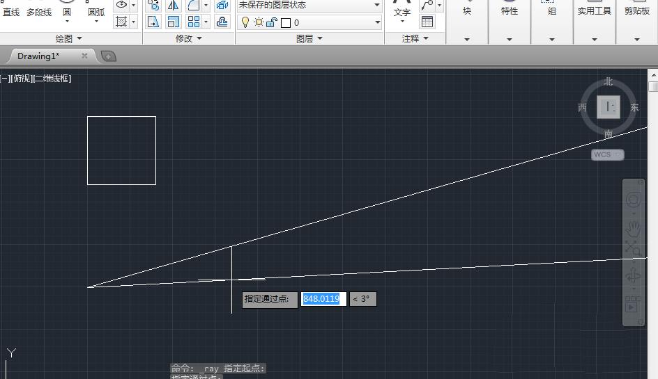 cad2014v射线画射线和构造线的图文不中cad未冻结图形未选锁定操作图片