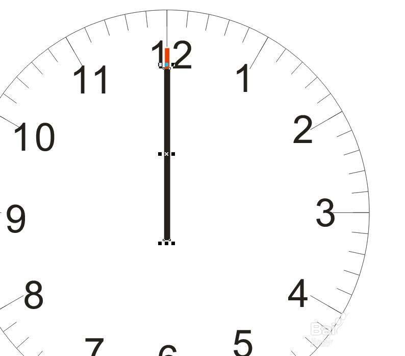 cdr制作简单钟表的操作流程