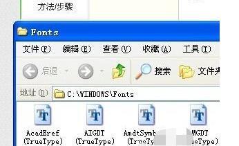 cad替换字体的操作过程截图