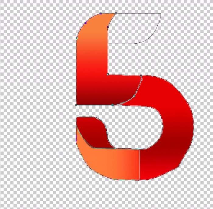ps制作折叠数字字体效果的详细操作