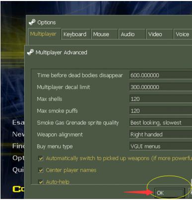 cs1.6英文版更换角色左右手拿枪的攻略