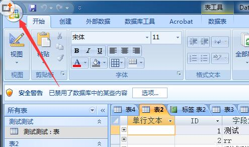 Access数据表中字体颜色的设定方法介绍