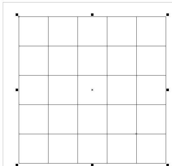 CorelDraw X4制作图纸和表格的操作过程截图