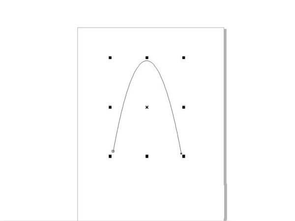 CorelDraw X4做出抛物线的方法步骤截图