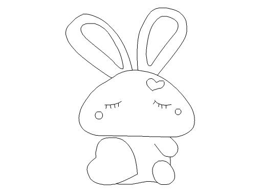 flash制作简笔画效果爱心兔子的操作步骤